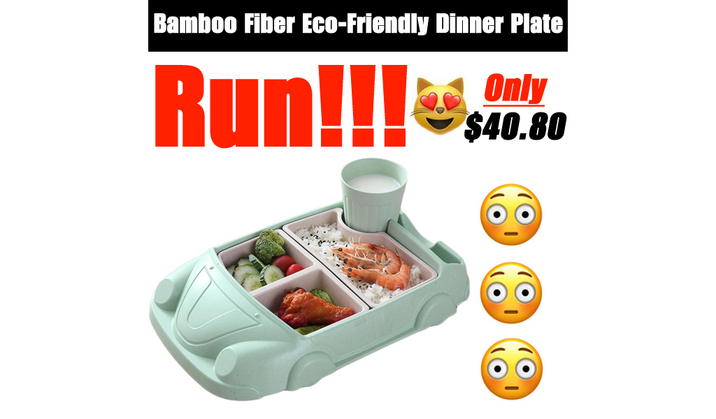 Bamboo Fiber Eco-Friendly Dinner Plate Only $40.80 Shipped on Walmart.com