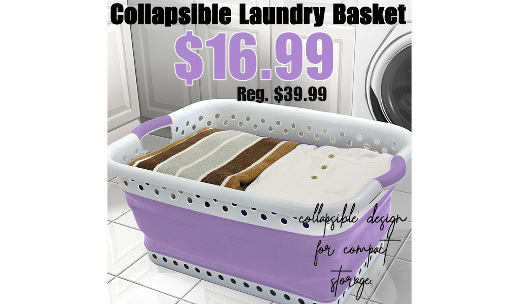Collapsible Laundry Basket Only $16.99 on Zulily (Regularly $39.99)