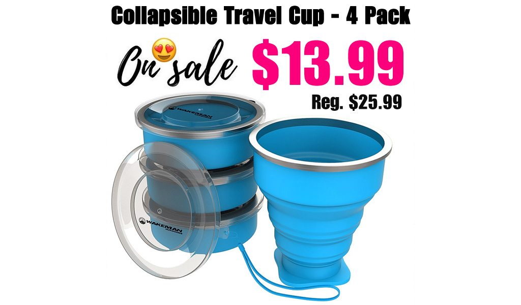 Collapsible Travel Cup - 4 Pack Only $13.99 on Zulily (Regularly $25.99)