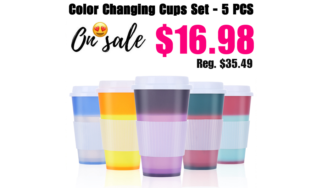 Color Changing Cups Set - 5 PCS Only $16.98 Shipped on Walmart.com (Regularly $35.49)