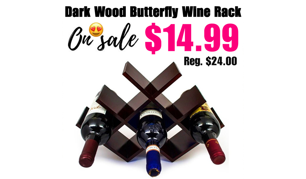 Dark Wood Butterfly Wine Rack Only $14.99 on Zulily (Regularly $24.00)