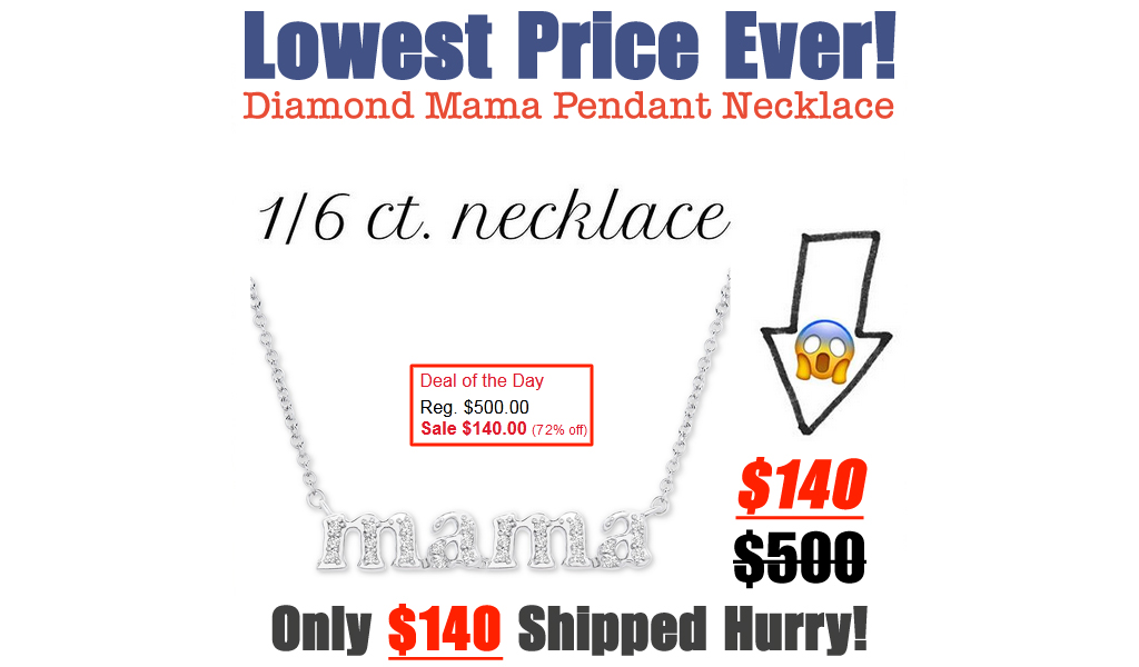Diamond Mama Pendant Necklace for $140 on Macys.com (Regularly $500)