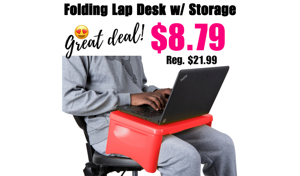 Folding Lap Desk w/ Storage Compartment Only $8.79 on Zulily (Regularly $22)