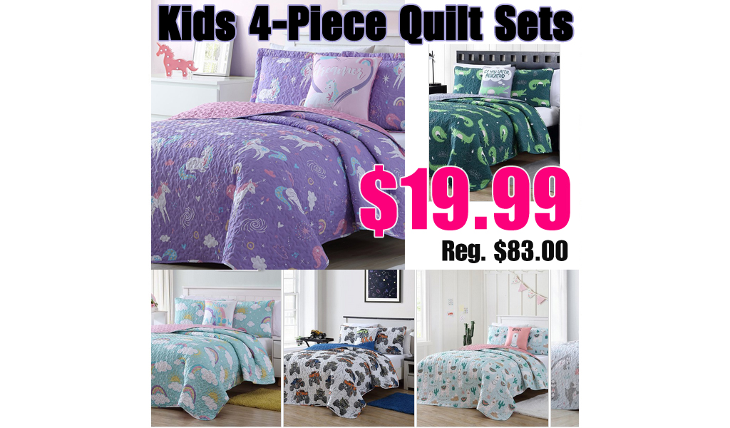 Kids Quilt Sets Only $19.99 on Zulily (Regularly up to $83)