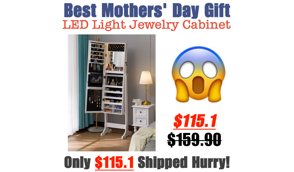 LED Light Jewelry Cabinet Only $115.1 Shipped on Amazon (Regularly $159.90)