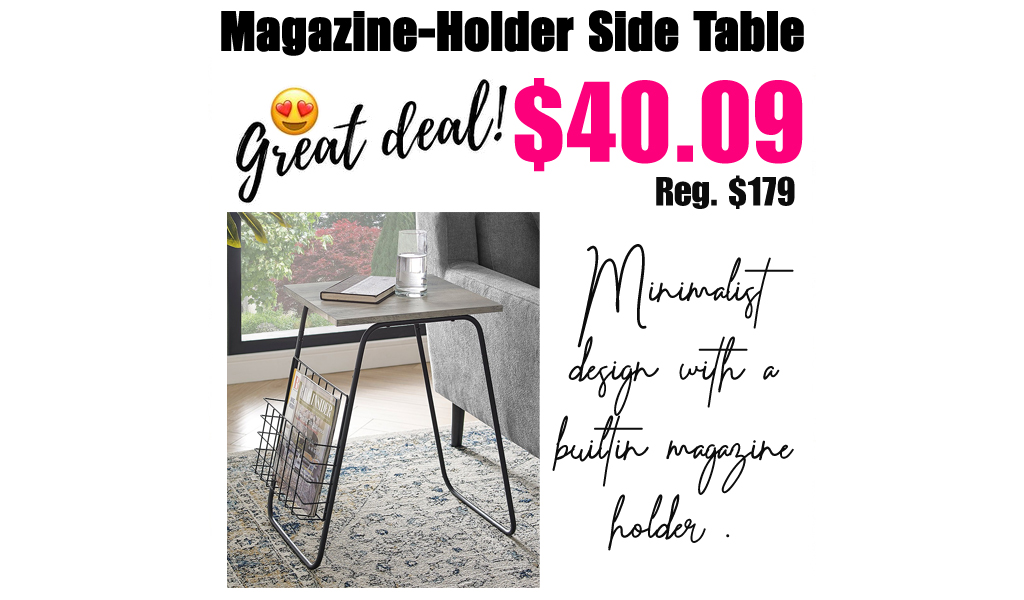 Magazine-Holder Side Table Only $40.09 on Zulily (Regularly $179)