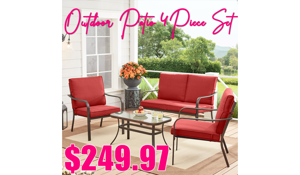 Mainstays Outdoor Patio 4-Piece Set Only $249.97 Shipped on Walmart.com