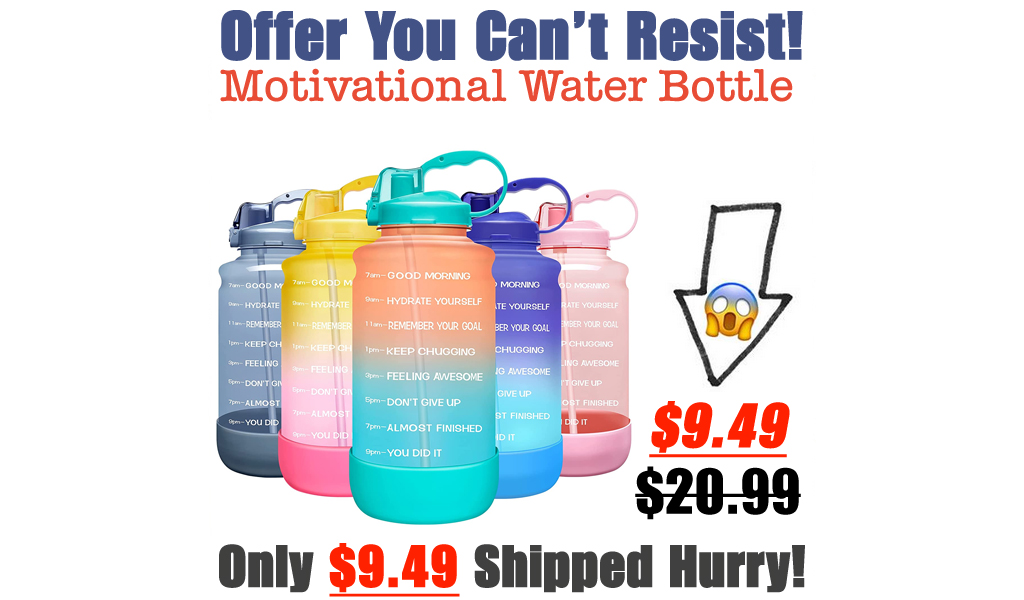 Motivational Time Marker Water Bottle with Straw Only $9.49 Shipped on Amazon (Regularly $20.99)