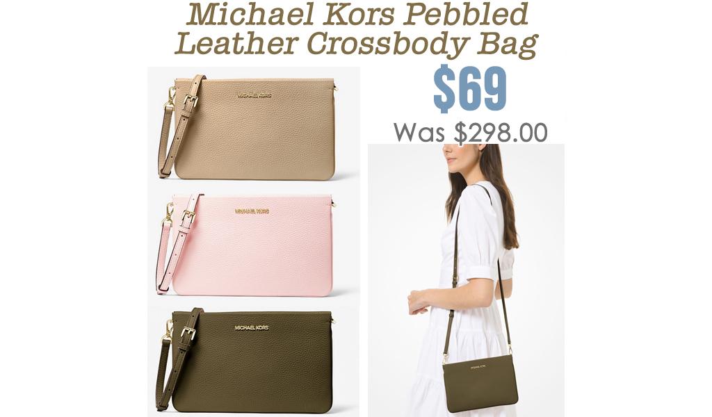 Pebbled Leather Crossbody Bag Only $69.00 on MichaelKors.com (Regularly $298)