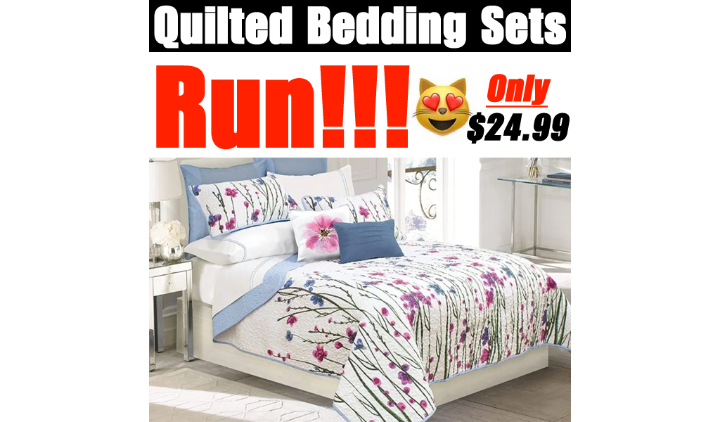 Quilted Bedding Sets from $24.99 on Zulily (Regularly $60+)