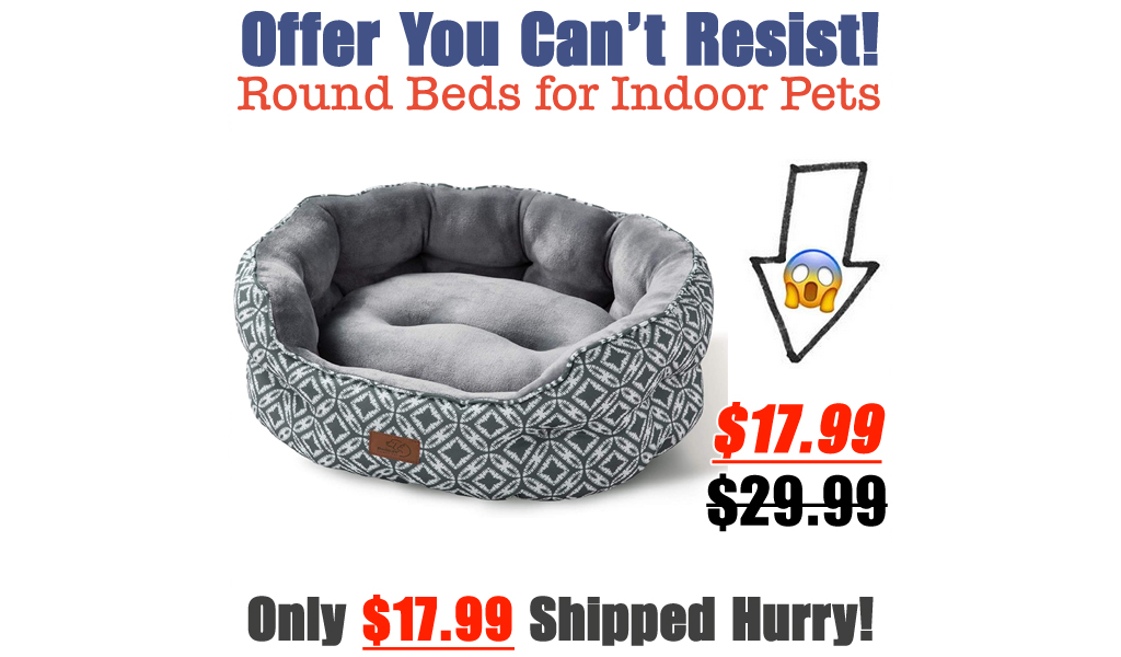 Round Beds for Indoor Pets Only $17.99 Shipped on Amazon (Regularly $29.99)