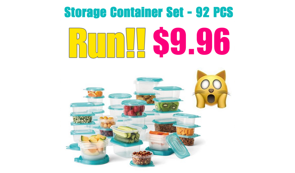 Storage Container Set - 92 PCS Only $9.96 Shipped on Walmart.com