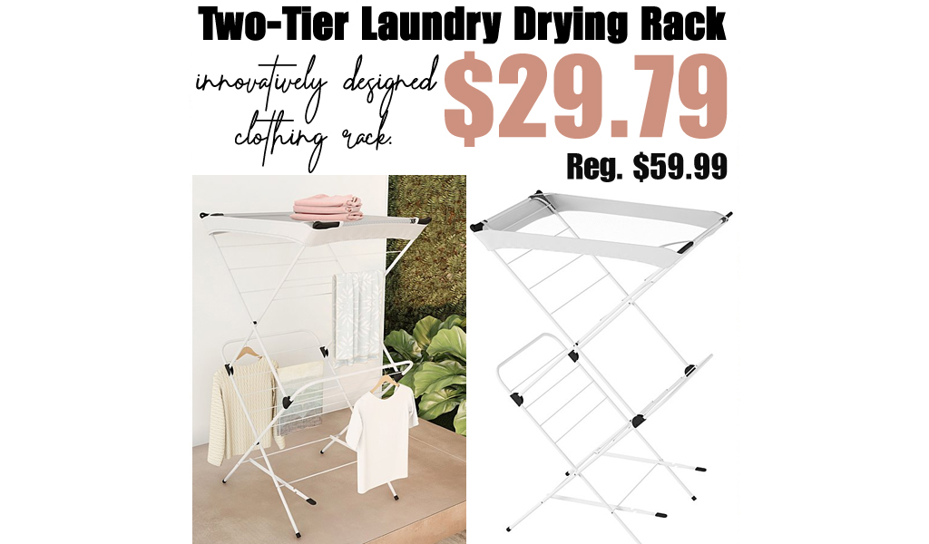 Two-Tier Laundry Drying Rack Only $29.79 on Zulily (Regularly $59.99)