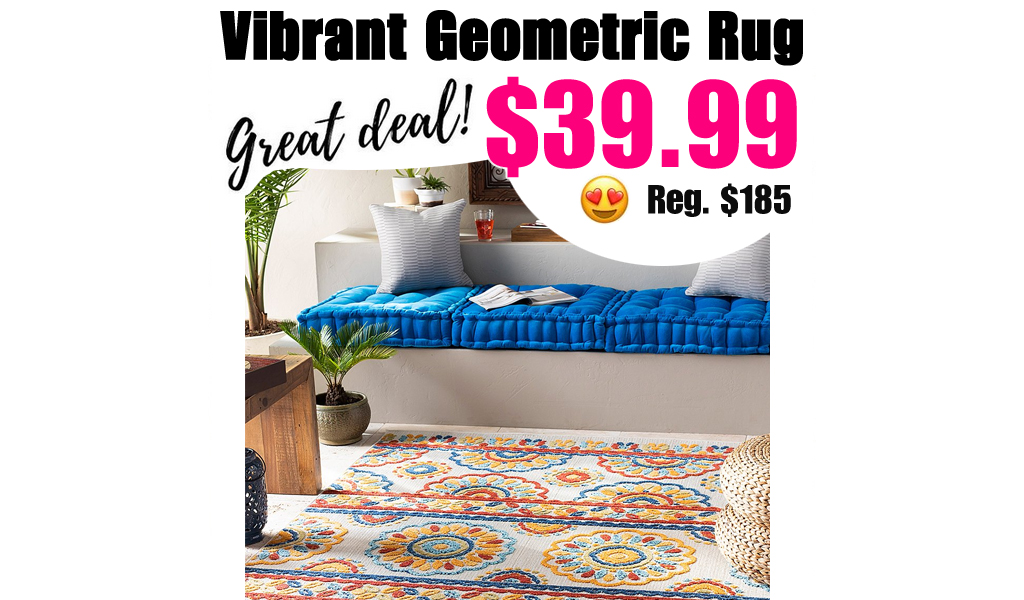 Vibrant Geometric Rug from $39.99 on Zulily (Regularly $185)