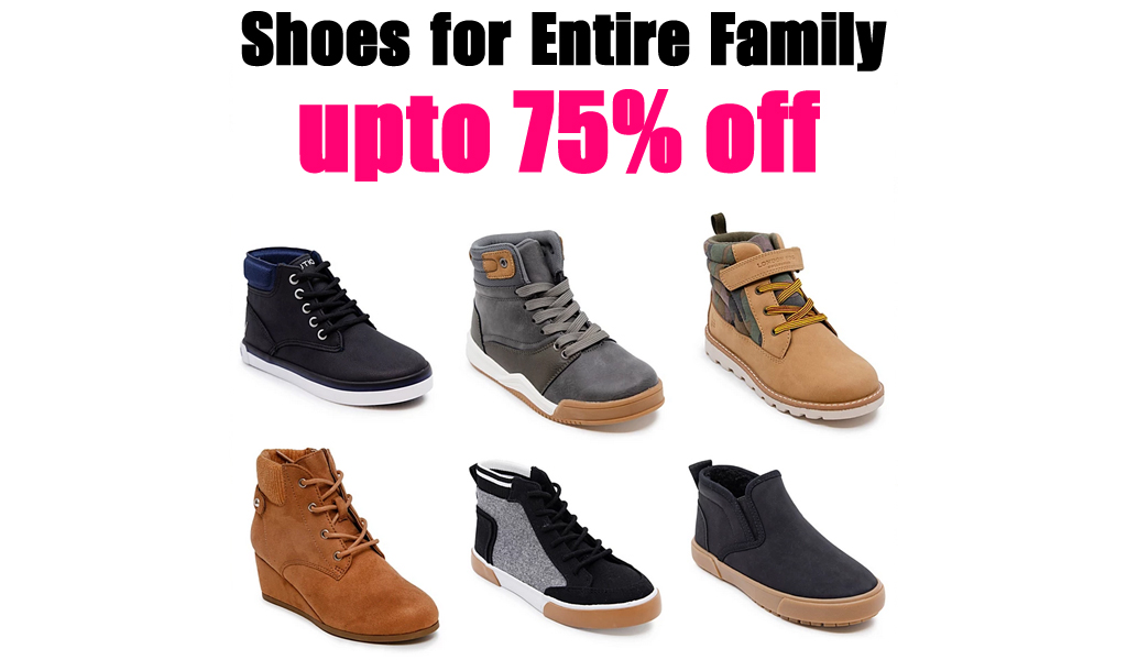 up to 75% off - Shoes For Entire Family on Macys