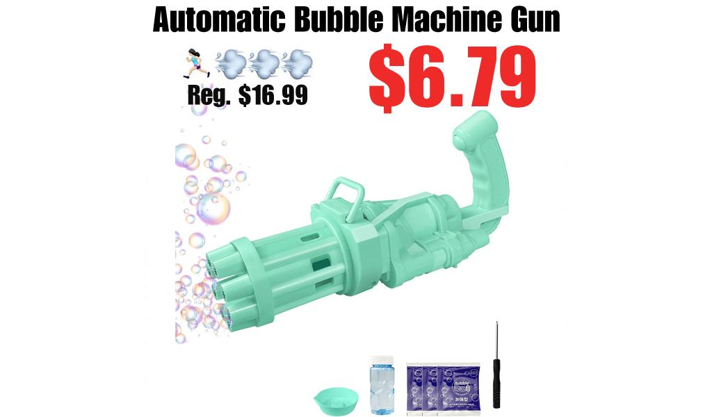 Automatic Bubble Machine Gun Only $6.79 Shipped on Amazon (Regularly $16.99)