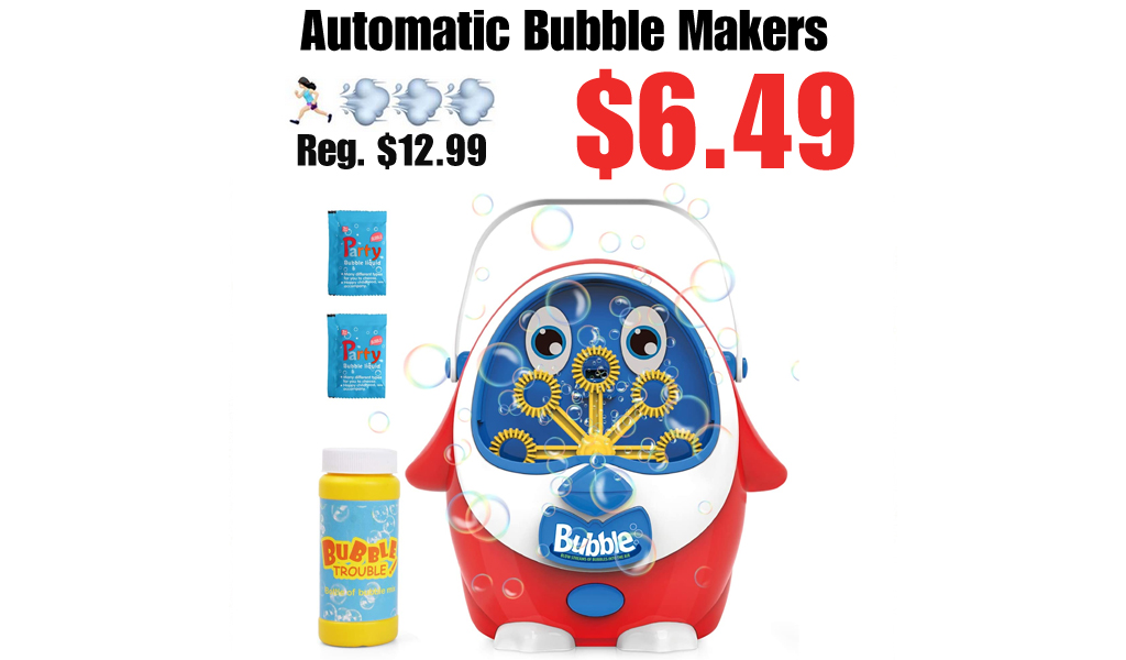 Automatic Bubble Makers Only $6.49 Shipped on Amazon (Regularly $12.99)