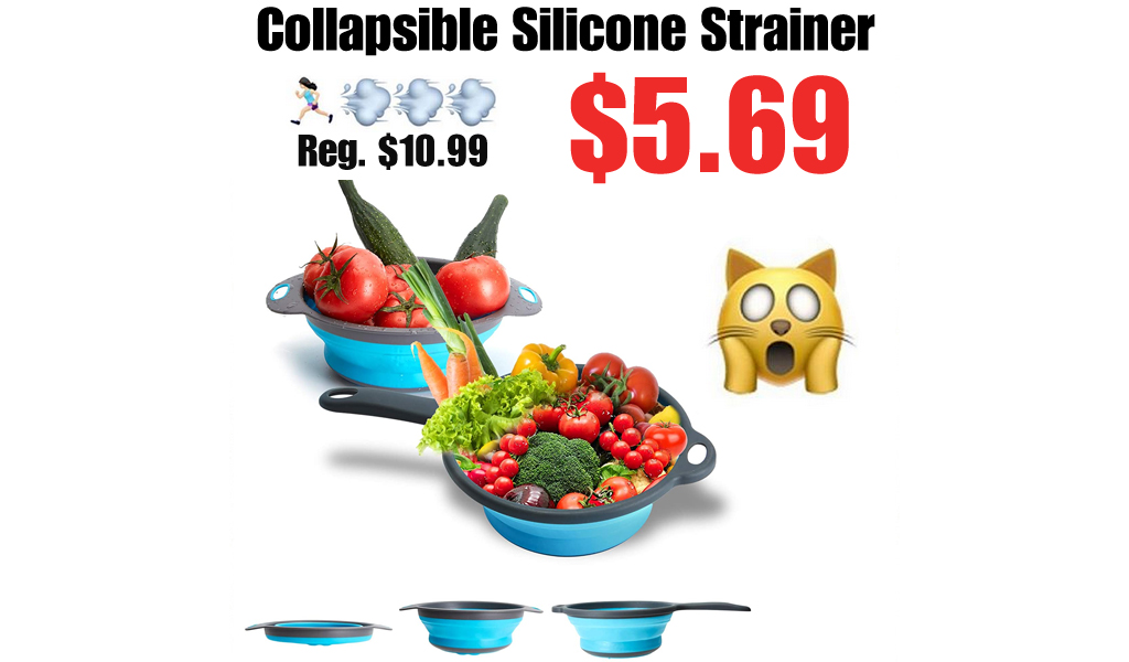 Collapsible Silicone Strainer Only $6.59 Shipped on Amazon (Regularly $10.99)