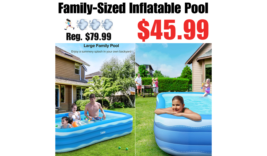 Family-Sized Inflatable Pool Only $45.99 Shipped on Amazon (Regularly $79.99)