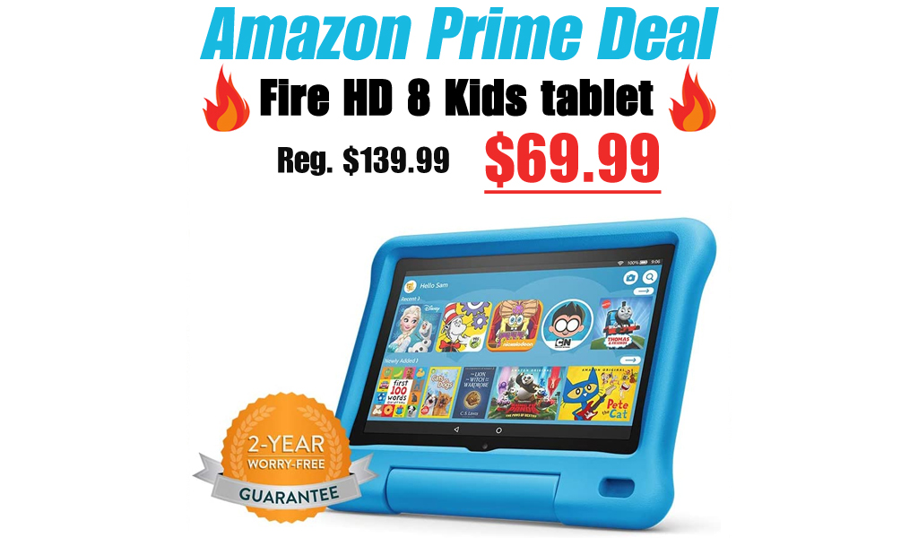 Fire HD 8 Kids tablet Only $69.99 Shipped for Amazon Prime Members