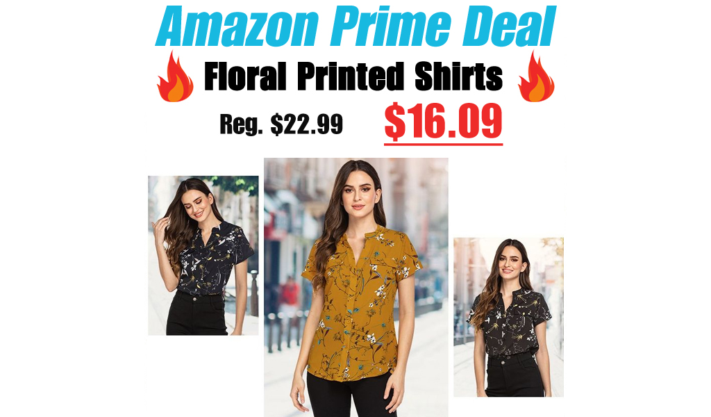 Floral Printed Shirts Only $16.09 Shipped for Amazon Prime Members (Regularly $22.99)