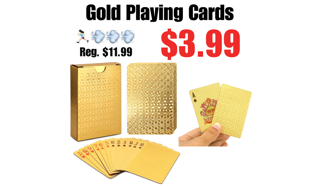 Gold Playing Cards Only $3.99 Shipped on Amazon (Regularly $11.99)