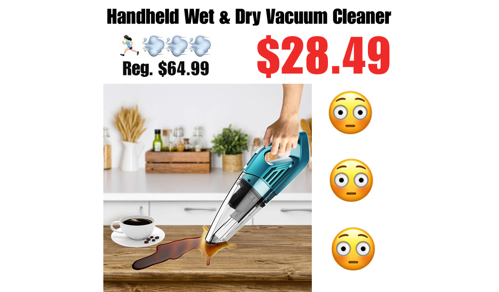 Handheld Wet & Dry Vacuum Cleaner Only $28.49 Shipped on Amazon (Regularly $64.99)