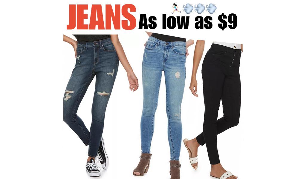 Jeans from $9 on Kohls.com