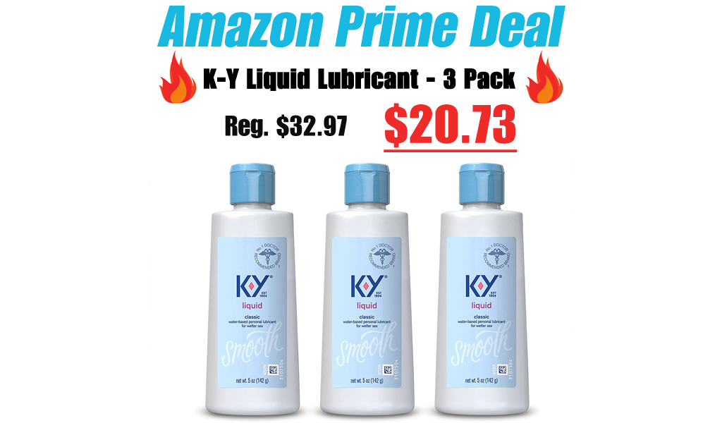 K-Y Liquid Personal Lubricant - 3 Pack for just $20.73 (regularly $32.97)