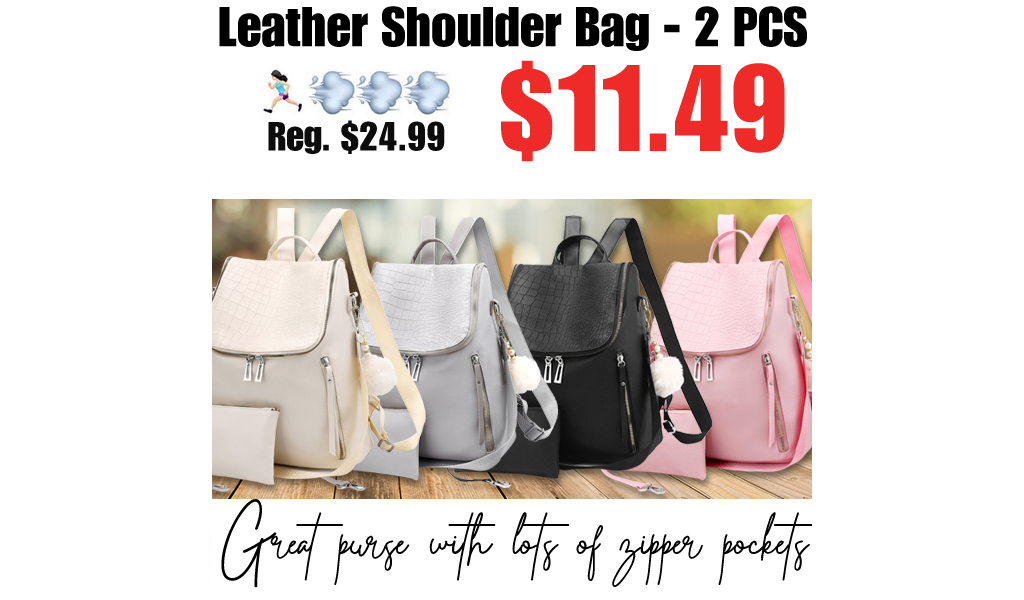 Leather Shoulder Bag - 2 PCS Only $11.49 Shipped on Amazon (Regularly $24.99)