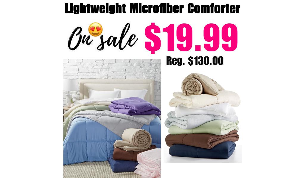 Lightweight Microfiber Comforter Only $19.99 on Macys.com (Regularly $130.00)
