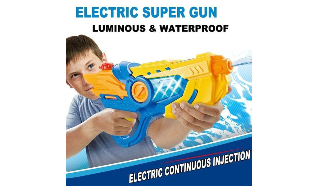 Luminous, Waterproof Electric Continuous Injection Water Gun For Adults And Kids+Free Shipping!