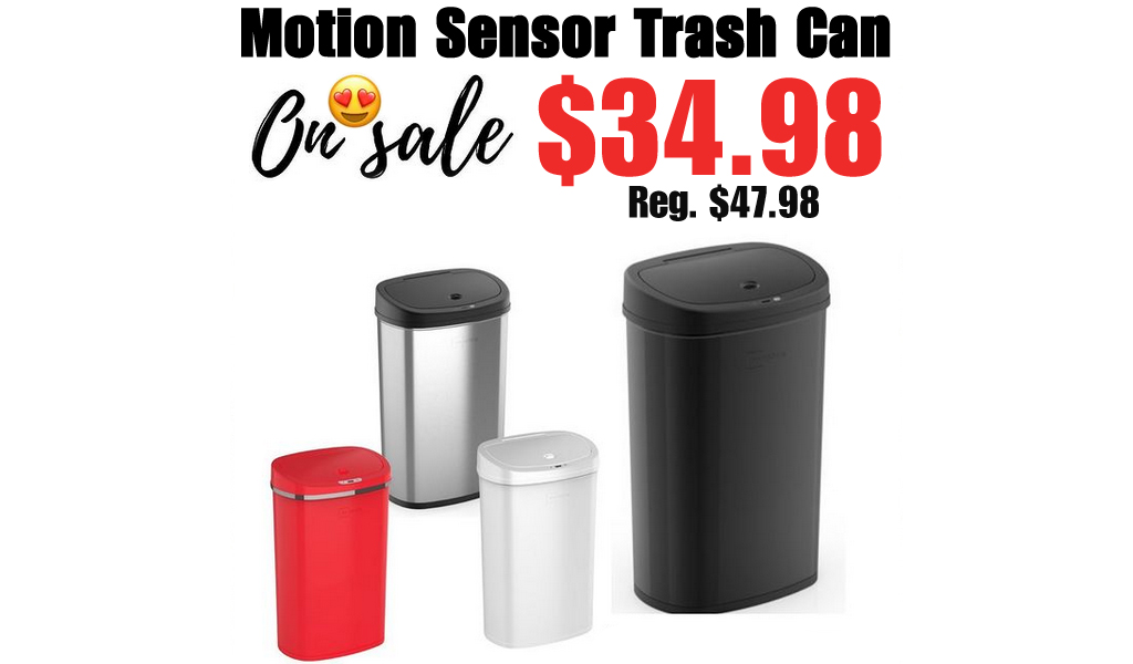 Mainstays Motion Sensor Trash Can Only $34.98 Shipped on Walmart.com (Regularly $47.98)