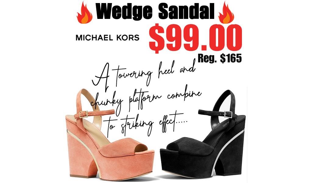 Michael Kors Wedge Sandal Only $99.00 on MichaelKors.com (Regularly $165.00)