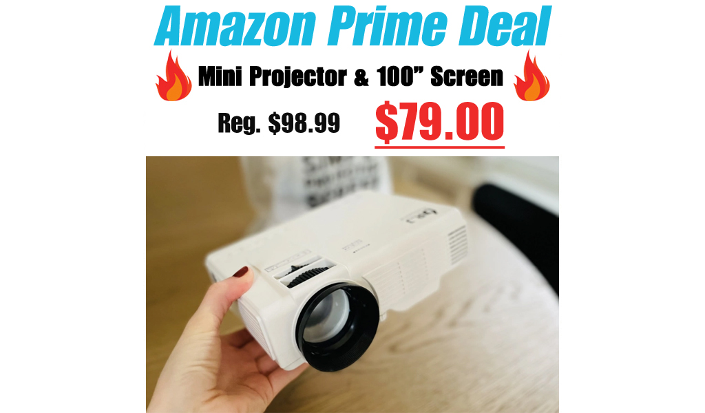Mini Projector & 100″ Screen Only $79 Shipped for Amazon Prime Members