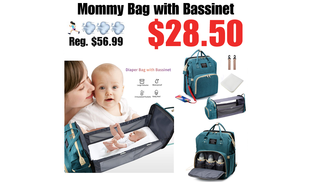 Mommy Bag with Bassinet Only $28.50 Shipped on Amazon (Regularly $56.99)