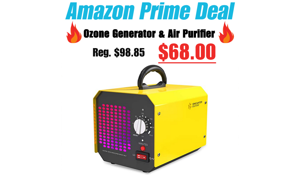 Ozone Generator & Air Purifier Only $68 Shipped for Amazon Prime Members (Regularly $98.85)