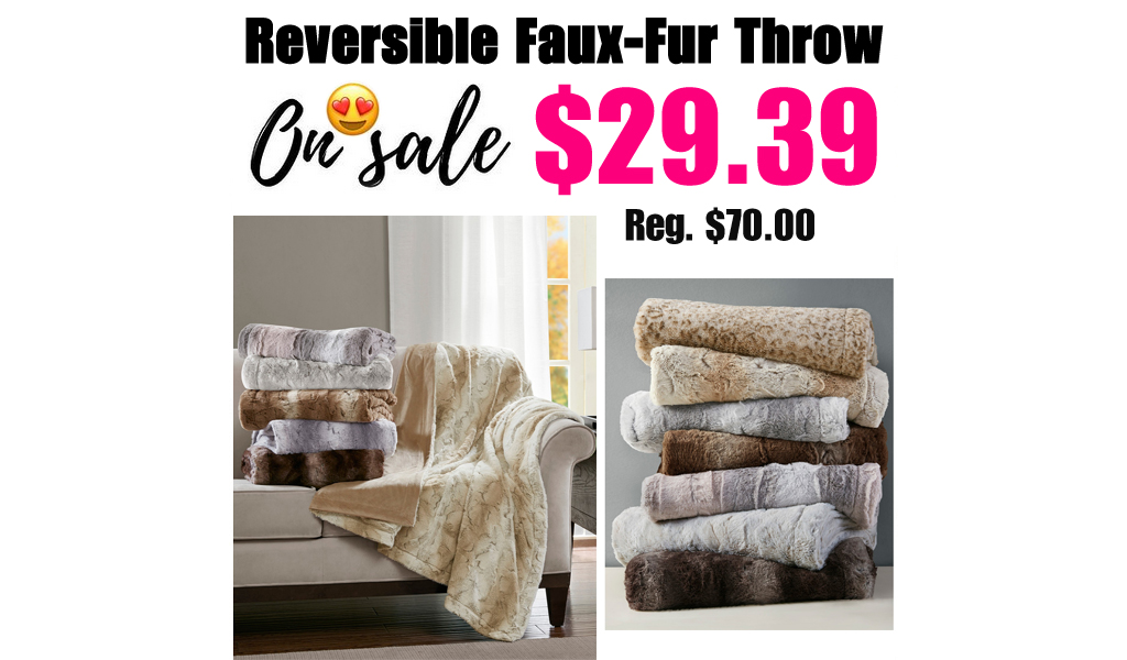 Reversible Faux-Fur Throw Just $29.39 on Macys.com (Regularly $70.00)