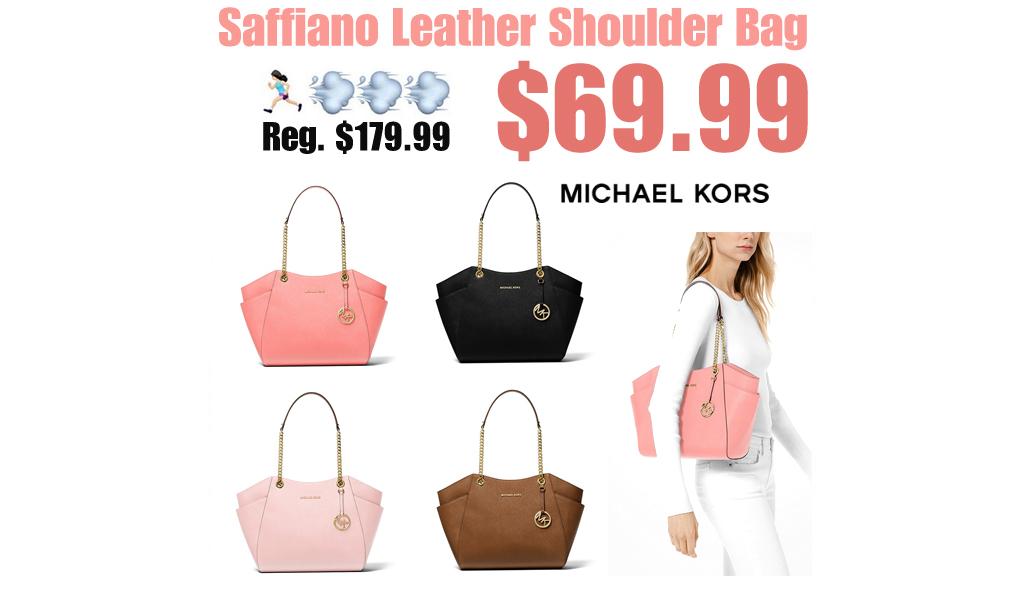 Saffiano Leather Shoulder Bag Only $69.99 on MichaelKors.com (Regularly $179.99)
