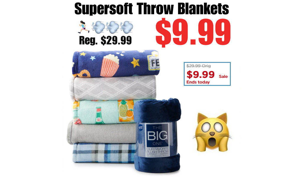 The Big One Supersoft Throw Blankets Only $9.99 at Kohl's (Regularly $29.99)