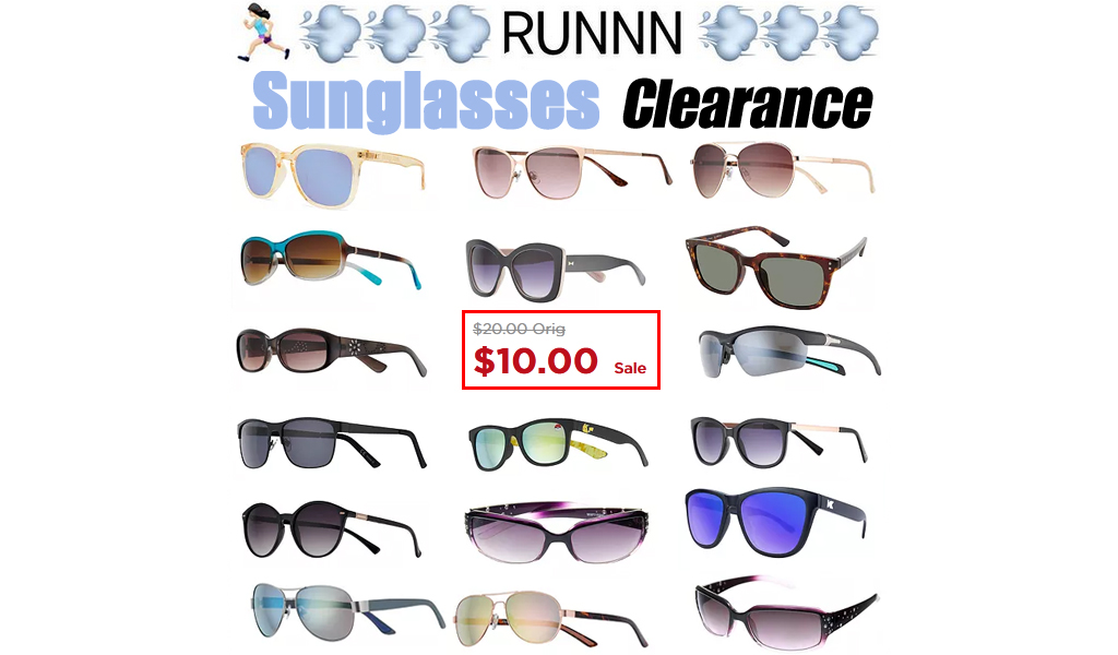 Big Sunglasses Clearance at Kohl's