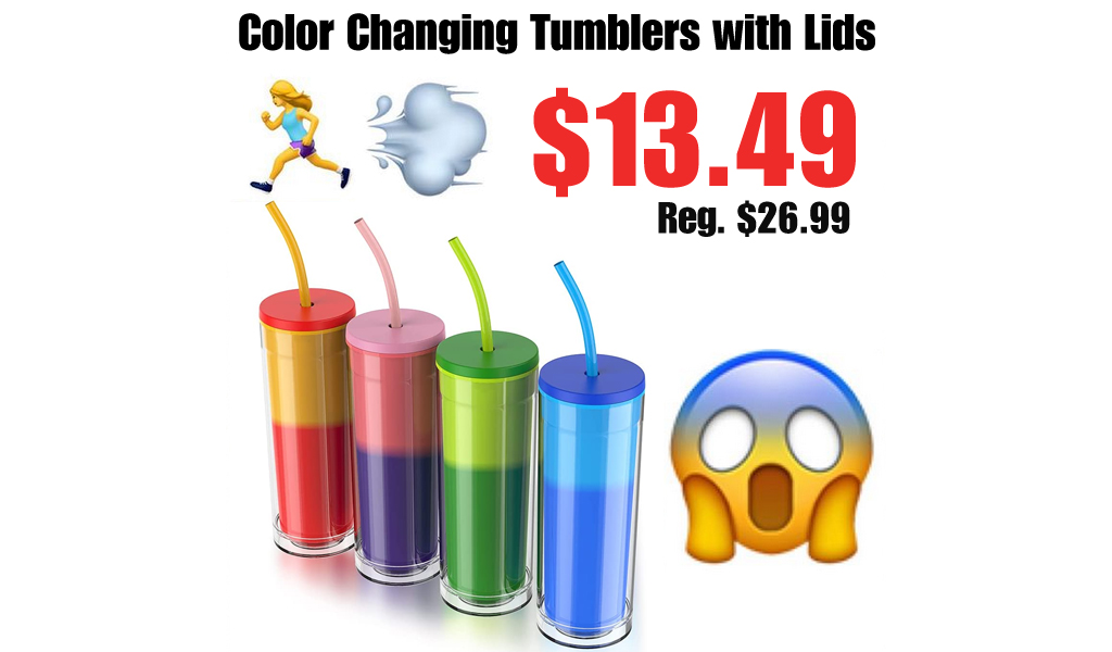 Color Changing Tumblers with Lids Only $13.49 Shipped on Amazon (Regularly $26.99)