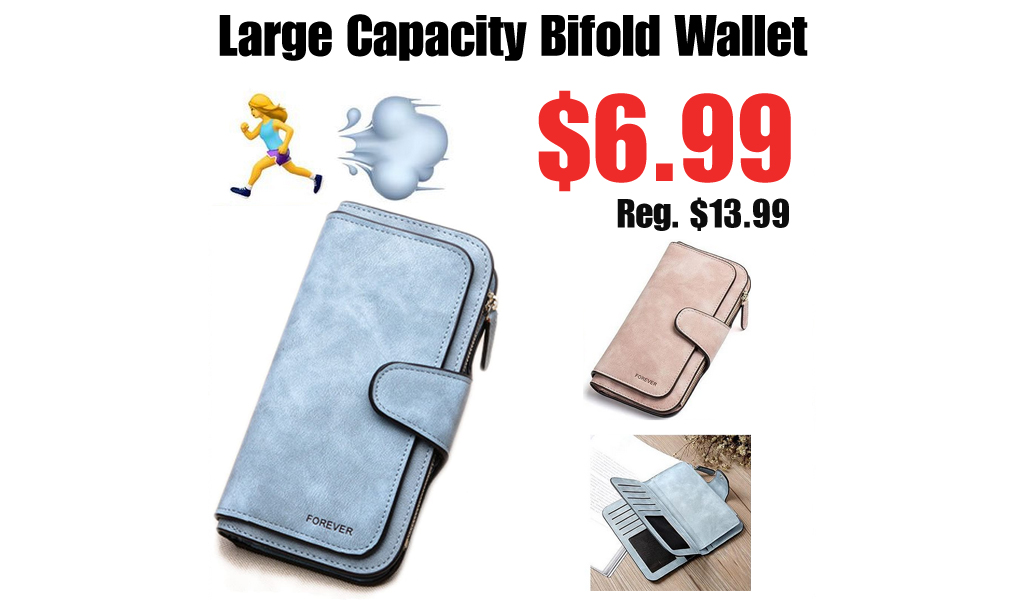 Large Capacity Bifold Wallet Only $6.99 Shipped on Amazon (Regularly $13.99)