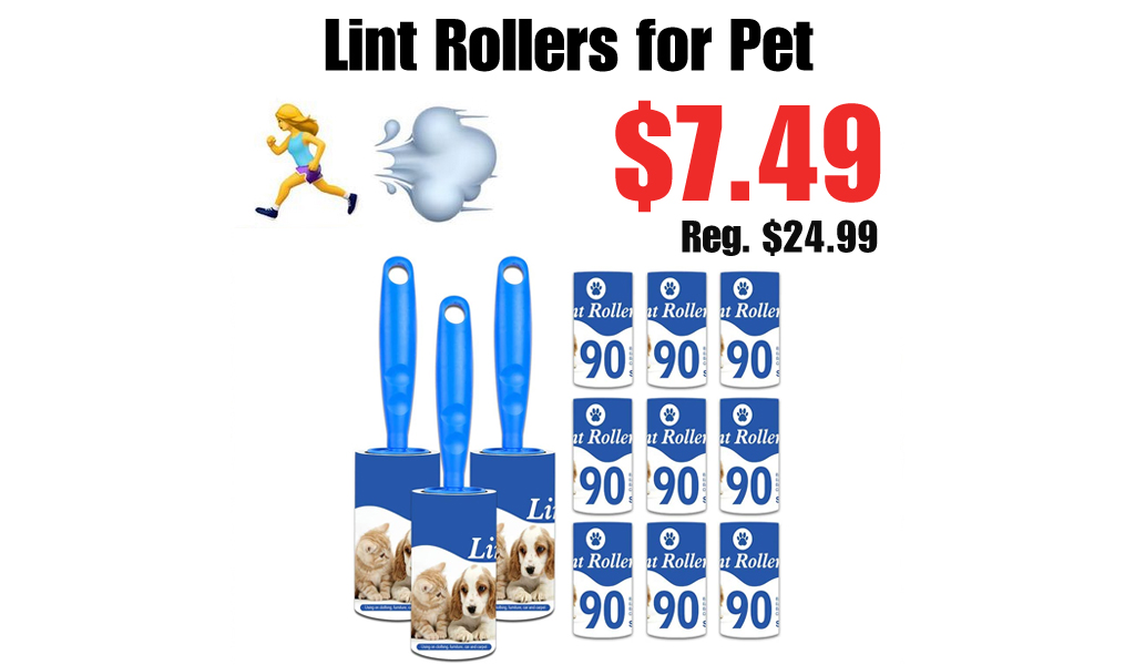 Lint Rollers for Pet Only $7.49 on Amazon (Regularly $24.99)