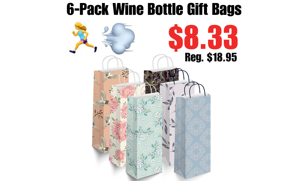 6-Pack Wine Bottle Gift Bags Only $8.33 Shipped on Amazon (Regularly $18.95)