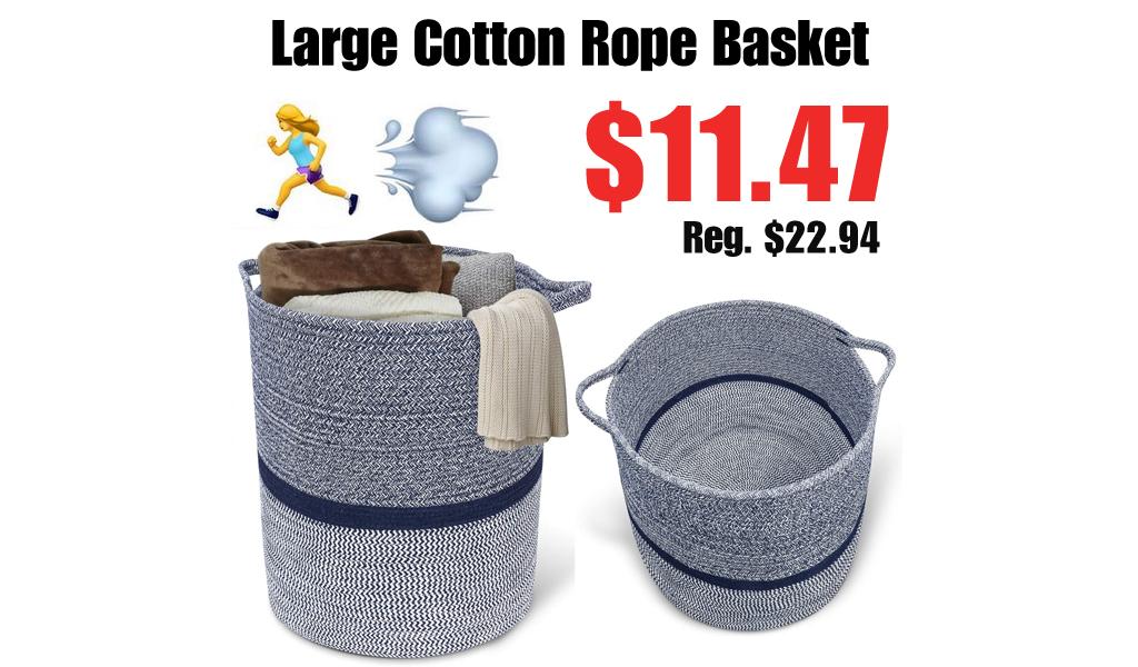 Large Cotton Rope Basket Only $11.47 Shipped on Amazon (Regularly $22.94)
