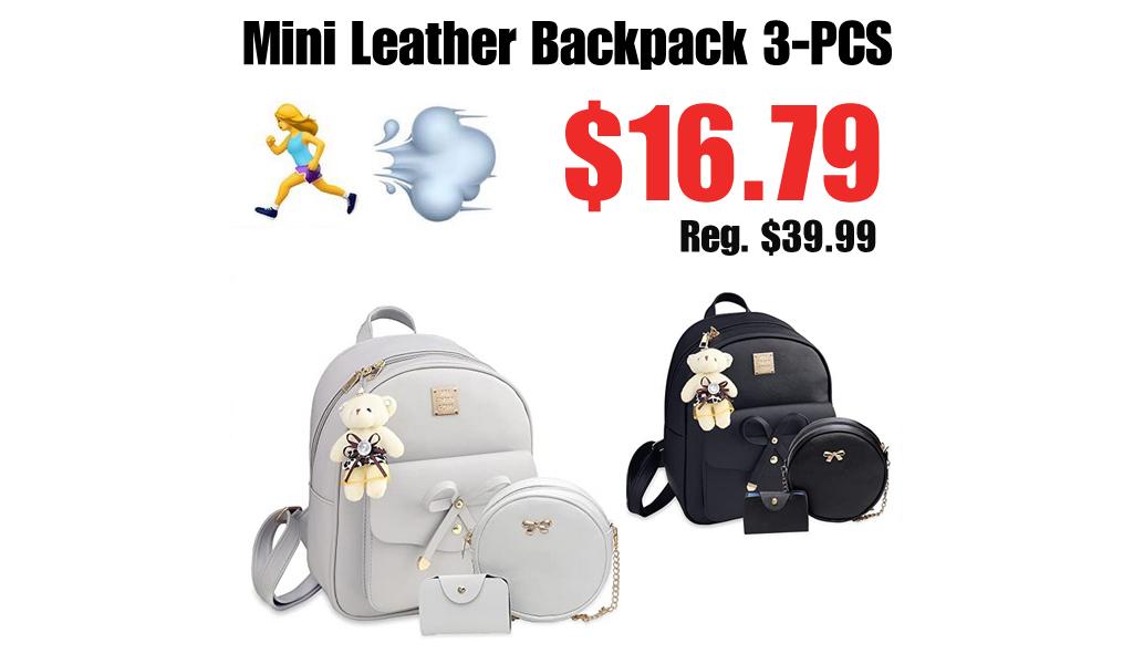Mini Leather Backpack 3-PCS Only $16.79 Shipped on Amazon (Regularly $39.99)
