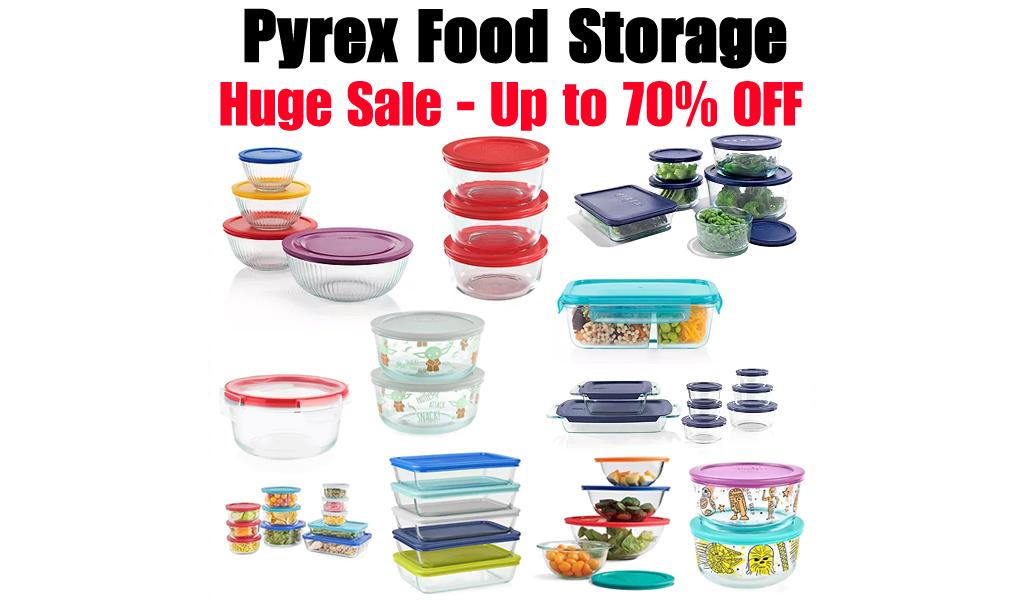 Pyrex Food Storage - Huge Sale on Kohls
