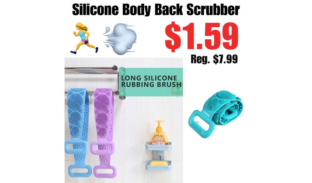 Silicone Body Back Scrubber Only $1.59 Shipped on Amazon (Regularly $7.99)
