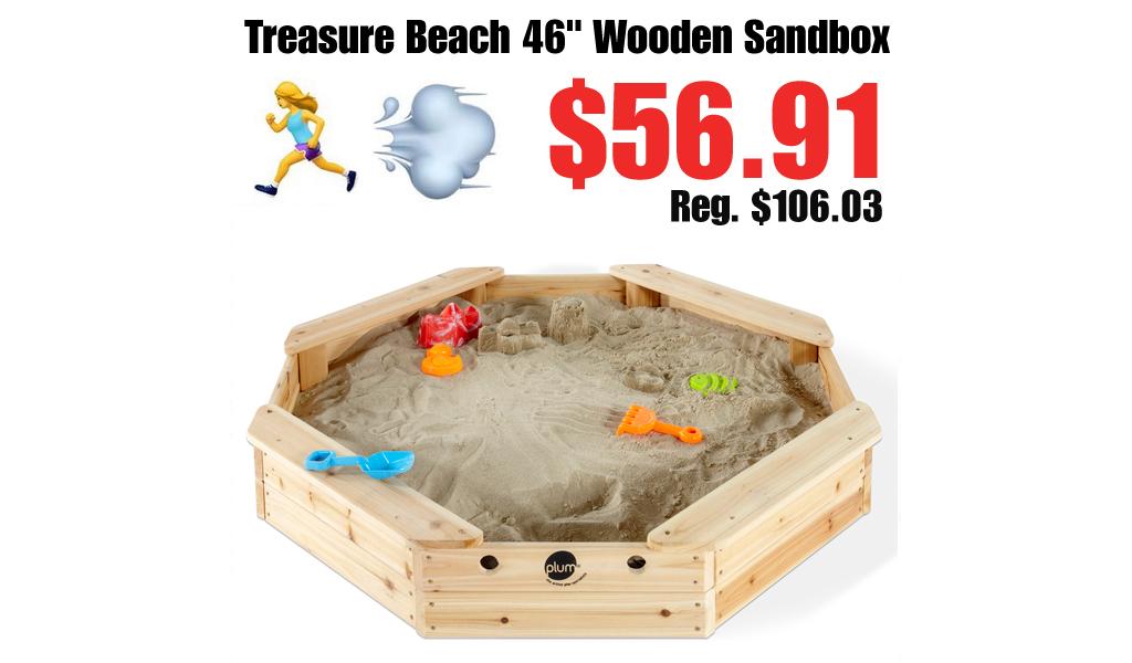 "Treasure Beach 46"" Wooden Sandbox Only $56.91 on Walmart.com (Regularly $106.03)"